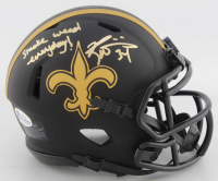 """Ricky Williams Signed Saints Eclipse Alternate Speed Mini Helmet Inscribed """"Smoke Weed Everyday!"""" (Beckett COA) at PristineAuction.com"""