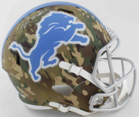 "D""Andre Swift Signed Lions Full-Size Camo Alternate Speed Helmet (JSA COA) at PristineAuction.com"