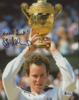 "John McEnroe Signed 8x10 Photo Inscribed ""Good Luck!"" (Beckett COA) at PristineAuction.com"