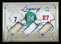 Mickey Mantle / Ken Griffey Jr. / Mike Trout 2019 ITG Used Sports Legacy Triple Memorabilia Platinum Blue Spectrum #L07 at PristineAuction.com