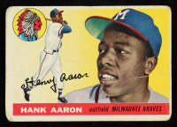 Hank Aaron 1955 Topps #47 at PristineAuction.com