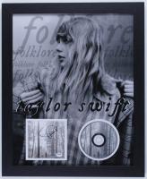 "Taylor Swift Signed ""Folklore"" 18x22 Custom Framed CD Cover Display (PSA Hologram) at PristineAuction.com"