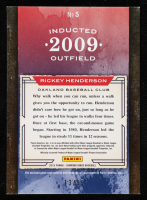 Rickey Henderson 2015 Diamond Kings HOF Heroes Signature Materials Framed Red #5 at PristineAuction.com
