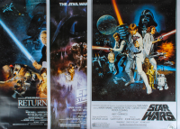 "Set of (3) Star Wars 27x40 Movie Posters with ""Star Wars"", ""Star Wars: The Empire Strikes Back"" & ""Star Wars: Return Of The Jedi"" at PristineAuction.com"