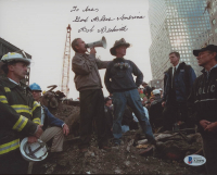 "Bob Beckwith Signed ""World Trade Center Ground Zero"" 8x10 Photo Inscribed ""God Bless America"" (Beckett COA) at PristineAuction.com"