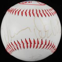 Danny DeVito & Rhea Perlman Signed Yankees Logo Baseball (JSA COA) at PristineAuction.com