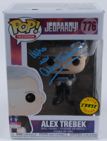 "Alex Trebek Signed ""Jeopardy"" #776 Funko Pop! Vinyl Figure Inscribed ""Who Is"" (PSA Hologram) at PristineAuction.com"