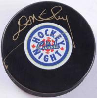 """Don Cherry Signed """"Hockey Night In Canada"""" Logo Hockey Puck (COJO COA) at PristineAuction.com"""