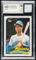 Ken Griffey Jr. 1989 Topps Traded #41T RC With Game Used Jersey Piece (BCCG 10) at PristineAuction.com