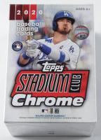 2020 Stadium Club Chrome Baseball Blaster Box with (5) Packs at PristineAuction.com