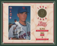 Nolan Ryan Signed Mets 8x10 Career Highlight Stat Card with Gold Coin (Beckett COA) at PristineAuction.com