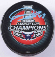 Tom Wilson Signed 2018 Capitals Stanley Cup Champions Logo Hockey Puck (COJO COA) at PristineAuction.com