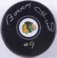 Bobby Hull Signed Blackhawks Logo Hockey Puck (COJO COA) at PristineAuction.com