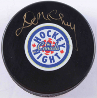 "Don Cherry Signed ""Hockey Night In Canada"" Logo Hockey Puck (COJO COA & Frozen Pond Hologram) at PristineAuction.com"