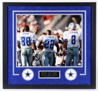 "Troy Aikman, Emmitt Smith & Michael ""Playmaker"" Irvin Signed Cowboys 26x28 Custom Framed Photo Display (JSA Hologram, GTSM Hologram & Aikman Hologram) at PristineAuction.com"