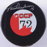 Paul Henderson Signed Soviet Union CCCP '72 Logo Hockey Puck (COJO COA) at PristineAuction.com