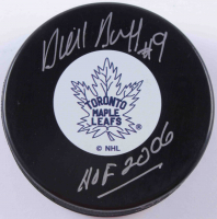 "Dick Duff Signed Maple Leafs Logo Hockey Puck Inscribed ""HOF 2006"" (COJO COA) at PristineAuction.com"