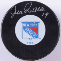 Jean Ratelle Signed Rangers Logo Hockey Puck (COJO COA) at PristineAuction.com