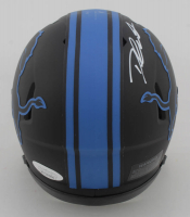 D'Andre Swift Signed Lions Eclipse Alternate Speed Mini Helmet (JSA COA) at PristineAuction.com