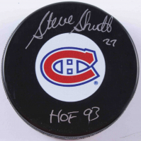 "Steve Shutt Signed Canadiens Logo Hockey Puck Inscribed ""HOF 93"" (COJO COA) at PristineAuction.com"