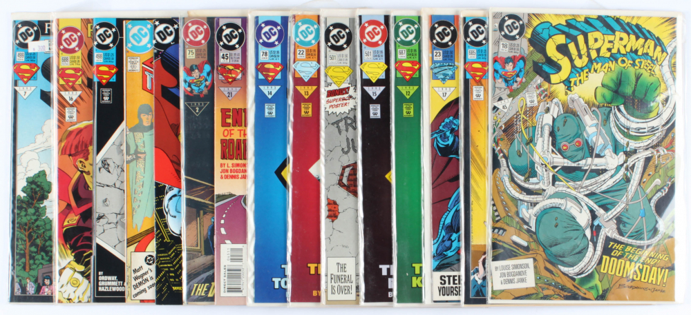 Lot of (15) Superman DC Comic Books Issues Ranging from #18 - #688 at PristineAuction.com
