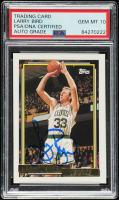 Larry Bird Signed 1992-93 Topps Gold #1 (PSA Encapsulated) at PristineAuction.com