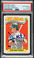 Don Mattingly Signed 1989 Topps #397 All-Star (PSA Encapsulated) at PristineAuction.com