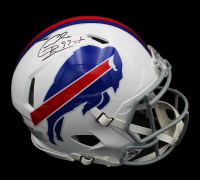 Cornelius Bennett Signed Bills Full-Size Authentic On-Field Speed Helmet (Radtke COA) at PristineAuction.com
