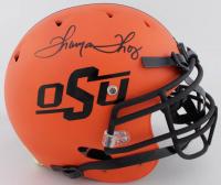 Thurman Thomas Signed OSU Cowboys Full-Size Authentic On-Field Matte Orange Helmet (JSA COA) at PristineAuction.com