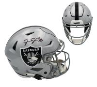 Josh Jacobs Signed Raiders Full-Size Authentic On-Field SpeedFlex Helmet (Radtke COA) at PristineAuction.com