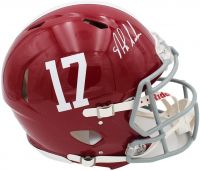 Nick Saban Signed Alabama Crimson Tide Full-Size Speed Helmet (Beckett COA) at PristineAuction.com