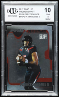 Patrick Mahomes II  2017 SAGE HIT Premier Draft Peak Performance #PKPM (BCCG 10) at PristineAuction.com
