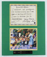 "Jerry Maren Signed LE ""Wizard of Oz"" 16x20 Custom Matted ""The Lollipop Guild Song"" Hand-Written Lyric Sheet Display (JSA COA) at PristineAuction.com"
