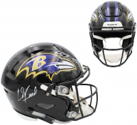 Ray Lewis, Ed Reed & Terrell Suggs Signed Ravens Full-Size Authentic On-Field SpeedFlex Helmet (Beckett COA) at PristineAuction.com