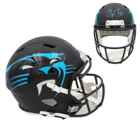 Christian McCaffrey Signed Panthers Full-Size AMP Alternate Speed Helmet (Beckett COA) at PristineAuction.com
