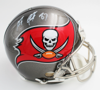 Rob Gronkowski Signed Buccaneers Full-Size Authentic On-Field Throwback Helmet (Radtke COA) at PristineAuction.com