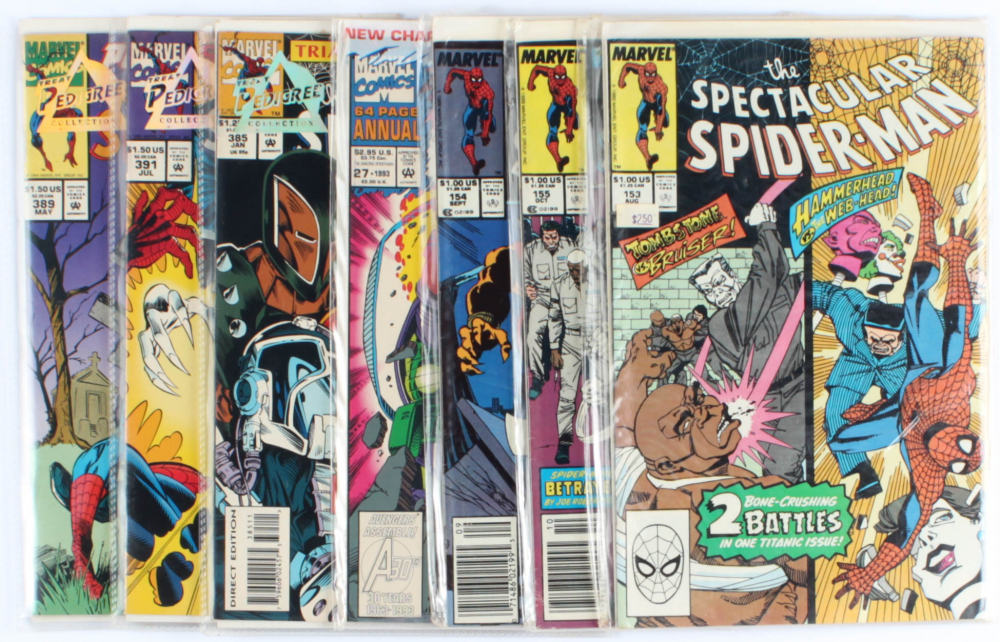 Lot of (7) Amazing Spider-Man Marvel Comic Books Issues Ranging from #27 - #391 at PristineAuction.com