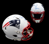 Tom Brady Signed Patriots Full-Size Authentic On-Field Matte White Speed Helmet (TriStar Hologram) at PristineAuction.com