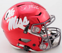 DK Metcalf Signed Ole Miss Rebels Full-Size Authentic On-Field Chrome SpeedFlex Helmet (Beckett Hologram) at PristineAuction.com