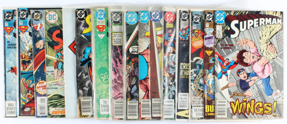 Lot of (15) Superman Marvel Comic Books Issues Ranging from #1 - #500 at PristineAuction.com