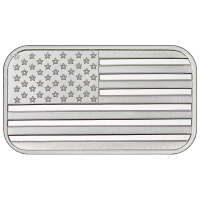 1 Troy Ounce American Flag .999 Fine Silver Bullion Bar at PristineAuction.com
