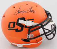 Thurman Thomas Signed Oklahoma State Cowboys Full-Size Authentic On-Field Matte Orange Helmet (JSA COA) at PristineAuction.com