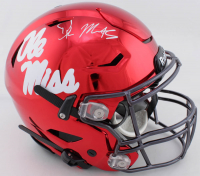 DK Metcalf Signed Ole Miss Rebels Full-Size Authentic On-Field Chrome SpeedFlex Helmet (Beckett COA) at PristineAuction.com