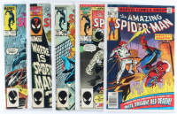 Lot of (5) Amazing Spider-Man Marvel Comic Books Issues Ranging from #184 - #283 at PristineAuction.com