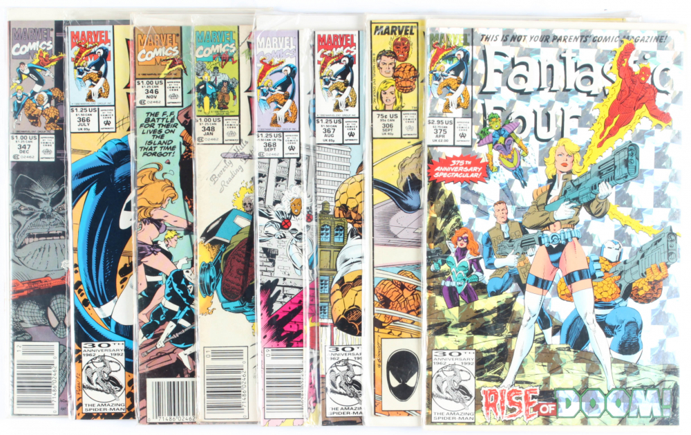 Lot of (8) Fantastic Four Marvel Comic Books Issues Ranging from #306 - #375 at PristineAuction.com