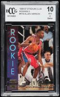 Allen Iverson 1996-97 Stadium Club Rookies 2 #R16 (BCCG 10) at PristineAuction.com