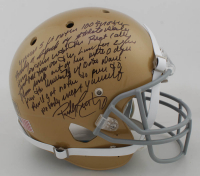 Rudy Ruettiger Signed Notre Dame Fighting Irish Full-Size Helmet with Extensive Inscription (Beckett COA) at PristineAuction.com