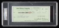 Jack Haley Signed 1970 Personal Bank Check (PSA Encapsulated) at PristineAuction.com