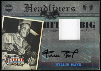 Willie Mays 2008 Americana II Headliners Signature Material #5 at PristineAuction.com