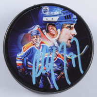 Paul Coffey Signed LE Oilers Logo Hockey Puck (COJO COA) at PristineAuction.com